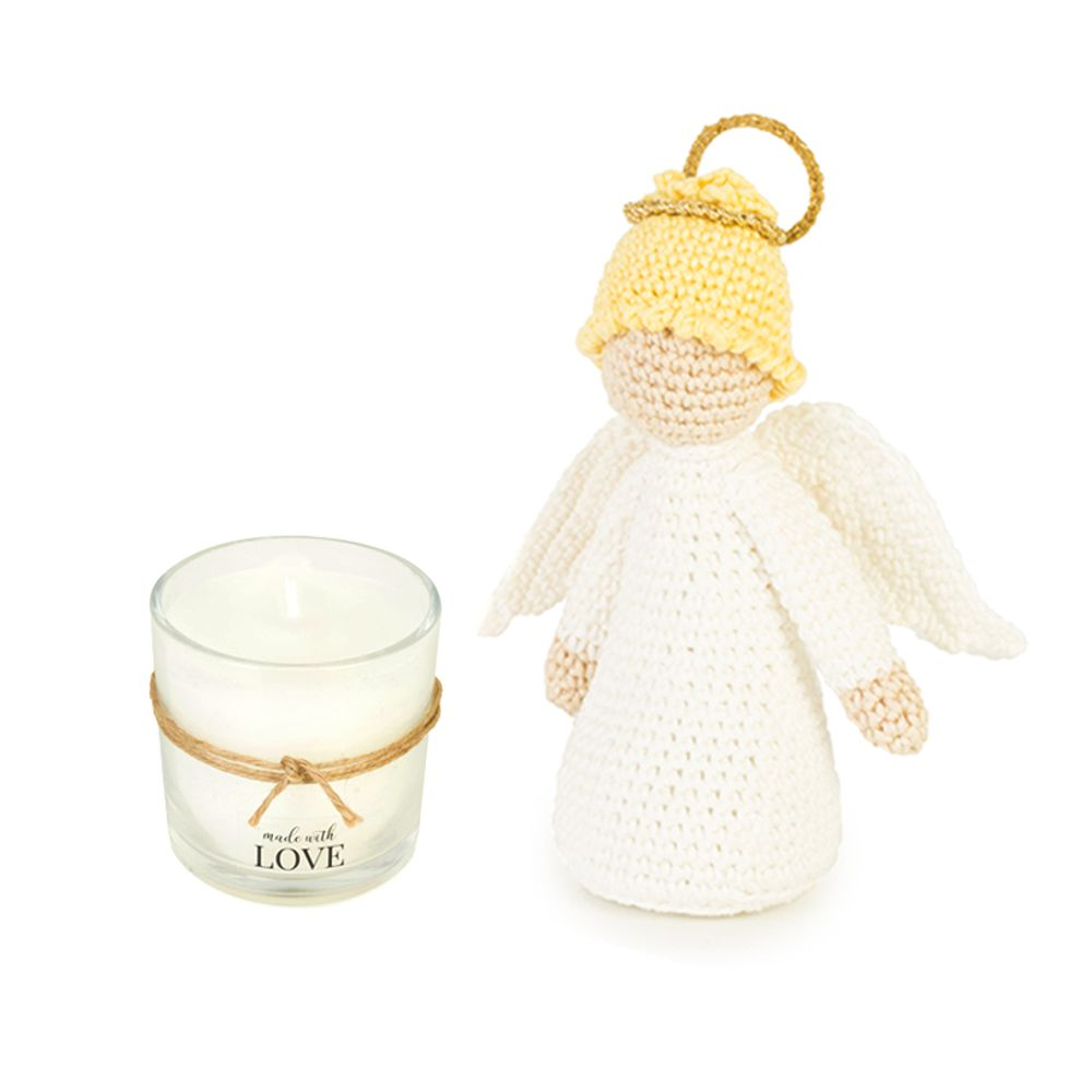 Anjinho-loiro-de-croche-Vela-Aromatica-Made-with-Love