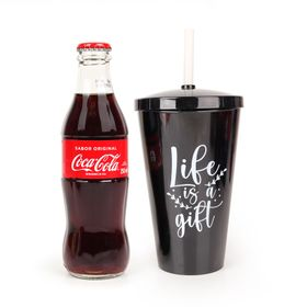 Coca-Cola-Original-250ml---Copo-Canudo---Life-Is-a-Gift