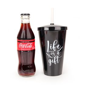 Coca-Cola-Zero-250ml---Copo-Canudo---Life-Is-a-Gift